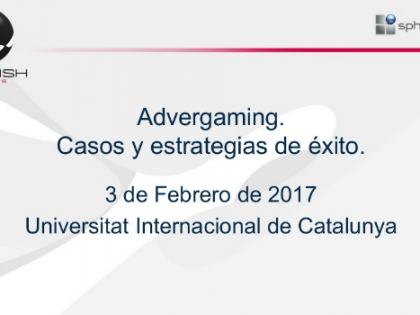 Conferencia sobre advergaming en la Universidad Internacional de Catalunya