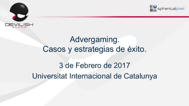 Conferencia sobre advergaming en la Universidad Internacional de Catalunya